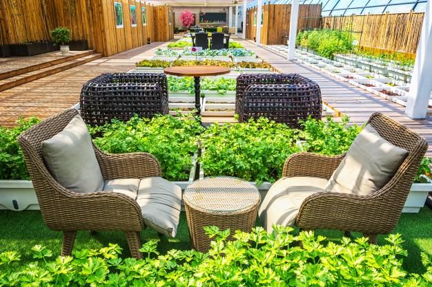 Lækkert havemøbelsæt til sommerhuset
